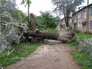 Ураган оставил без света и воды жителей райцентра